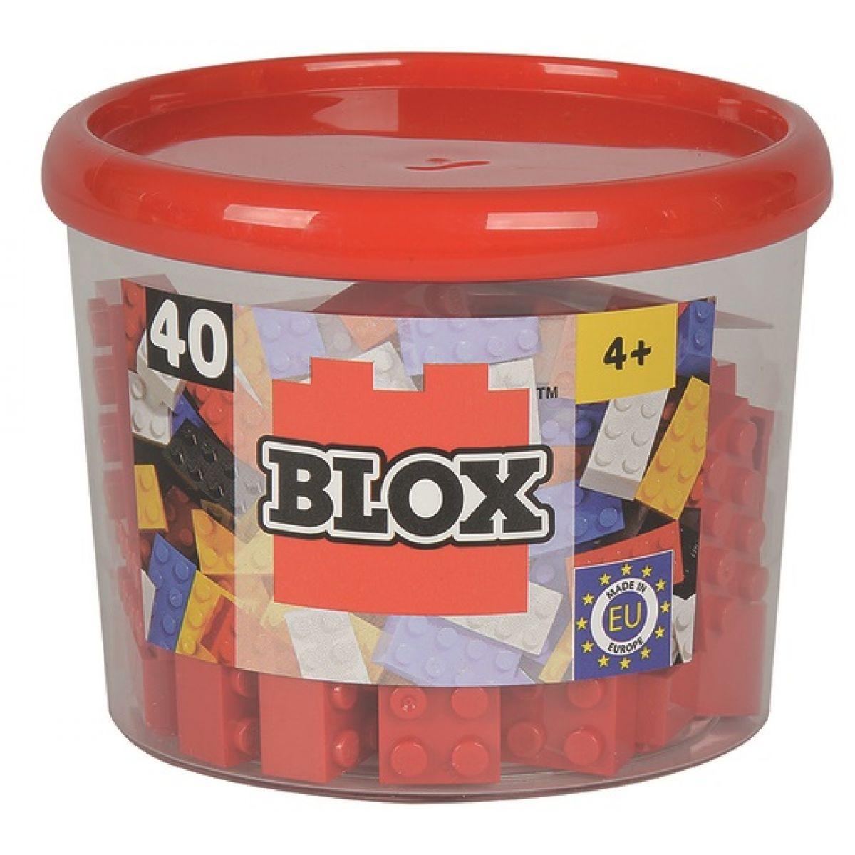 Blox 40 Kocky červené