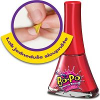Bo-Po Lak na nehty a balzám Světle červená zmrzlina 2