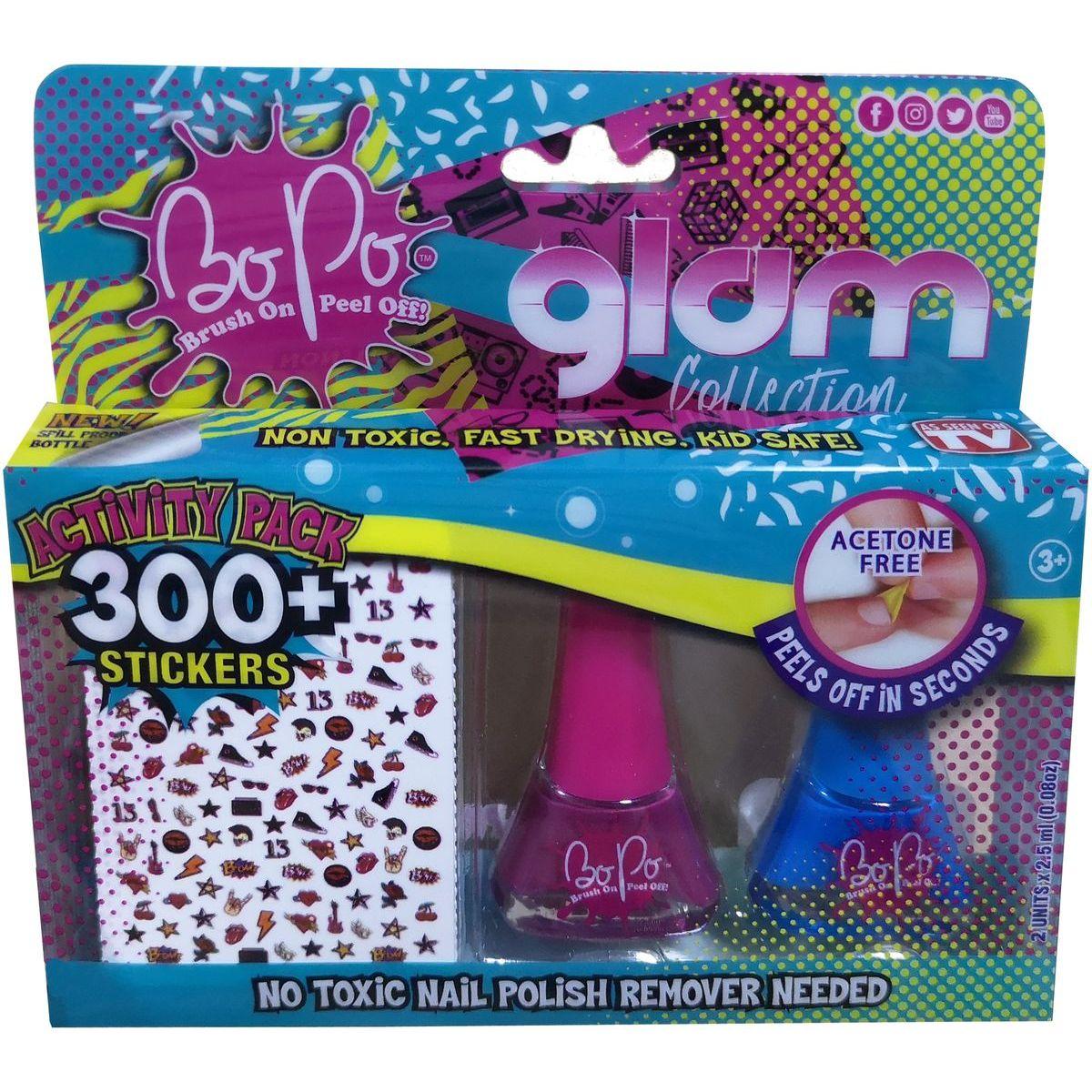 Bo-Po módne sada Glam tm. ružová, modrá