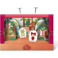 Bonaparte Divadielko papierové bábkové divadlo s oponou 6ks postavičiek v krabici 34x23x4cm 2