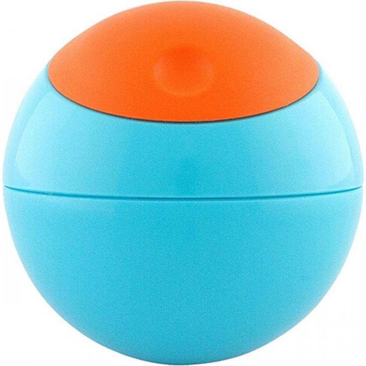 Boon Guľatá desiatová nádobka modro-oranžová