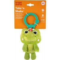 Bright Starts Hračka plyšová na C krúžku Take and Shake krokodíl 5
