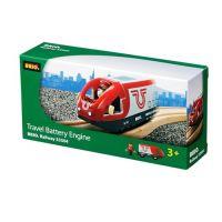 Brio Elektrická lokomotíva červeno-biela 2