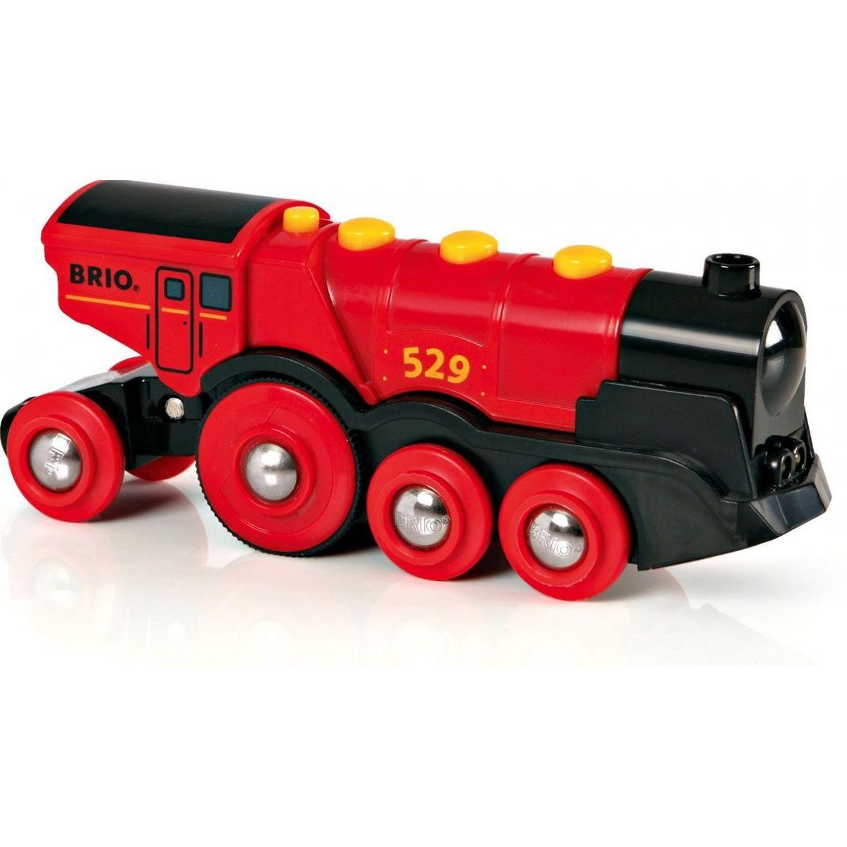 Brio 33592 - Mohutná elektrická lokomotiva se světly - červená