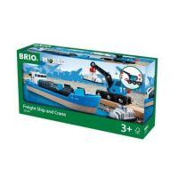 Brio Nákladní loď převážející kontejnery s jeřábem 4
