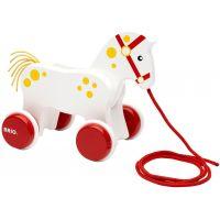 BRIO ťahacie koník biely