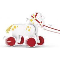 BRIO ťahacie koník biely 2
