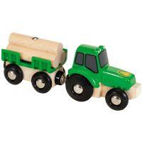 Brio Traktor s prívesom a nákladom