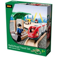 Brio Vláčiková dráha s os. vlakom, závorami a cestným priecestím, 33 dielov 3