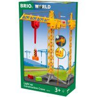 Brio World 33835 Svietiace stavebný žeriav 5