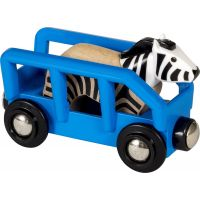 Brio World Zebra a vagónik