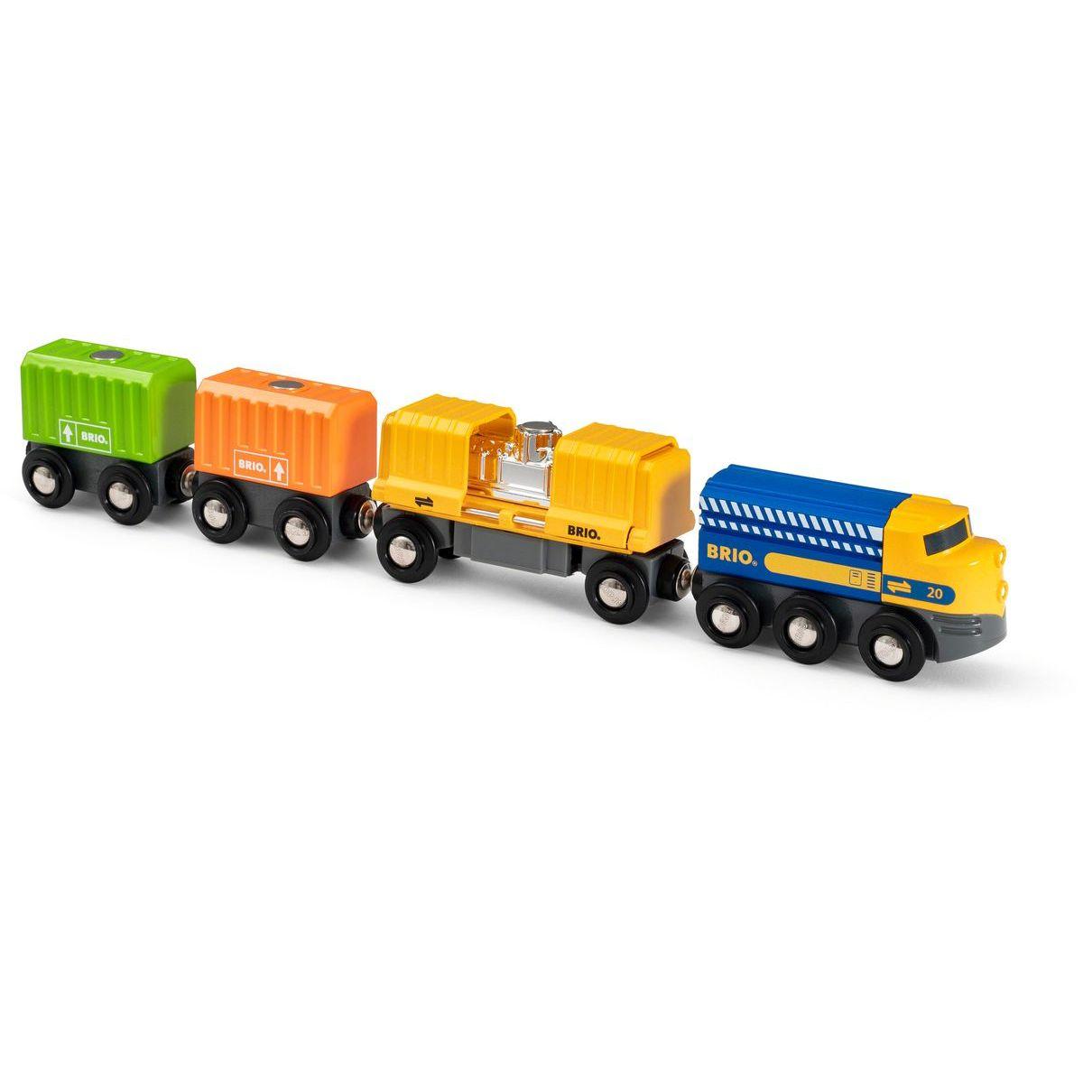 Brio World Nákladný vlak s troma vozňami
