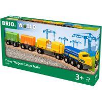 Brio World Nákladný vlak s troma vozňami 5
