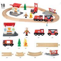 BRIO 33815 Vláčkodráha s týmem hasičů 5