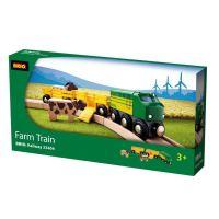 Poľnohospodársky vlak pre prepravu zvierat s 2 vagónikmi, kravou, koňom 2