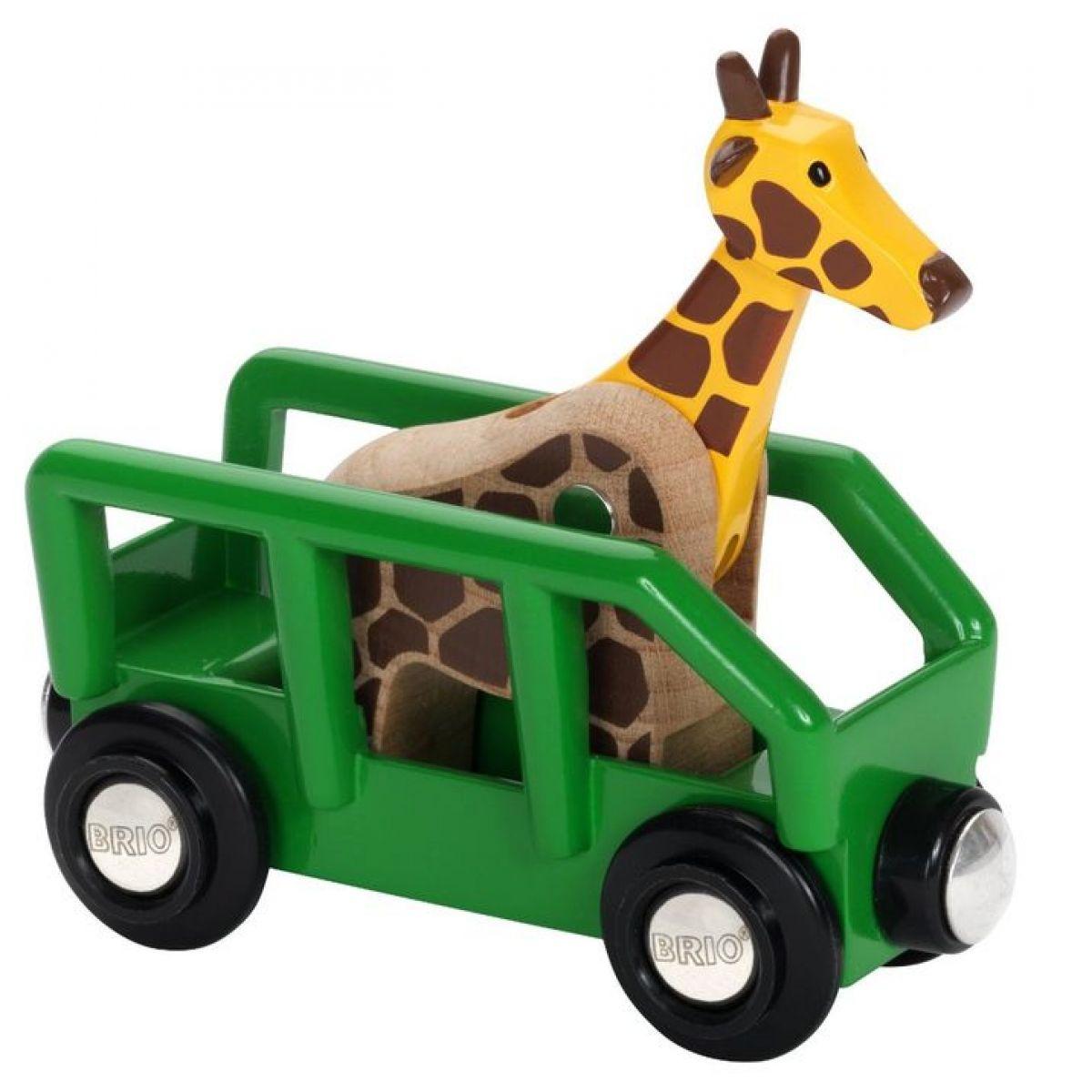 Brio Žirafa vo vagóne