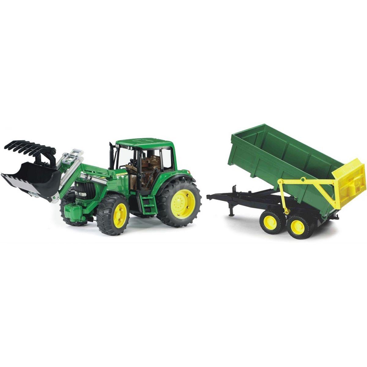 Bruder 01134 Traktor John Deere 6920 s prívesom a prednou lyžicou