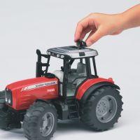 Bruder Traktor 2045 MASSEY FERGUSON + sklopné vozidlo červené 2