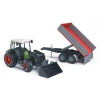 BRUDER 02112 Traktor CLAAS NECTIS s čelným nakladačom a vozom 2