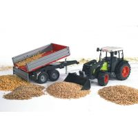 BRUDER 02112 Traktor CLAAS NECTIS s čelným nakladačom a vozom 3