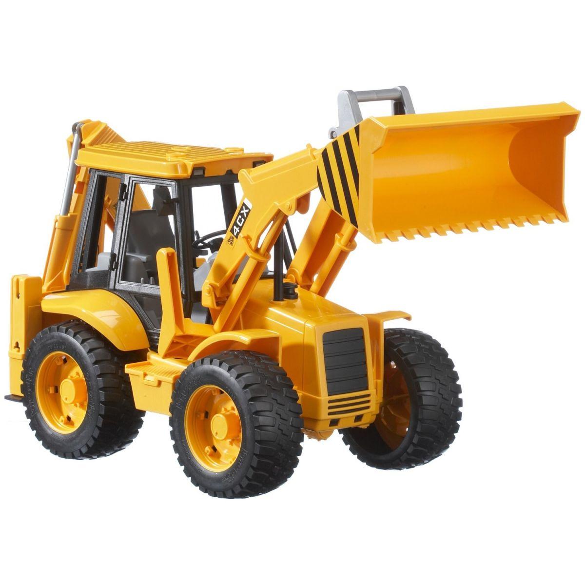 BRUDER 2428 Traktor JCB predný nakladač + bager