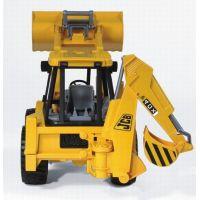 BRUDER 2428 Traktor JCB predný nakladač + bager 2