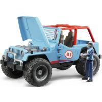 Bruder 2541 Jeep Wrangler Cross Country modrý s figúrkou jazdca 2