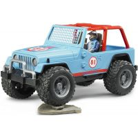 Bruder 2541 Jeep Wrangler Cross Country modrý s figúrkou jazdca 3
