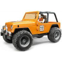 BrudER 2541 Jeep Cross Country oranžový s figurkou