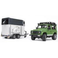 Bruder 2592 Auto Land Rover přepravní s koněm