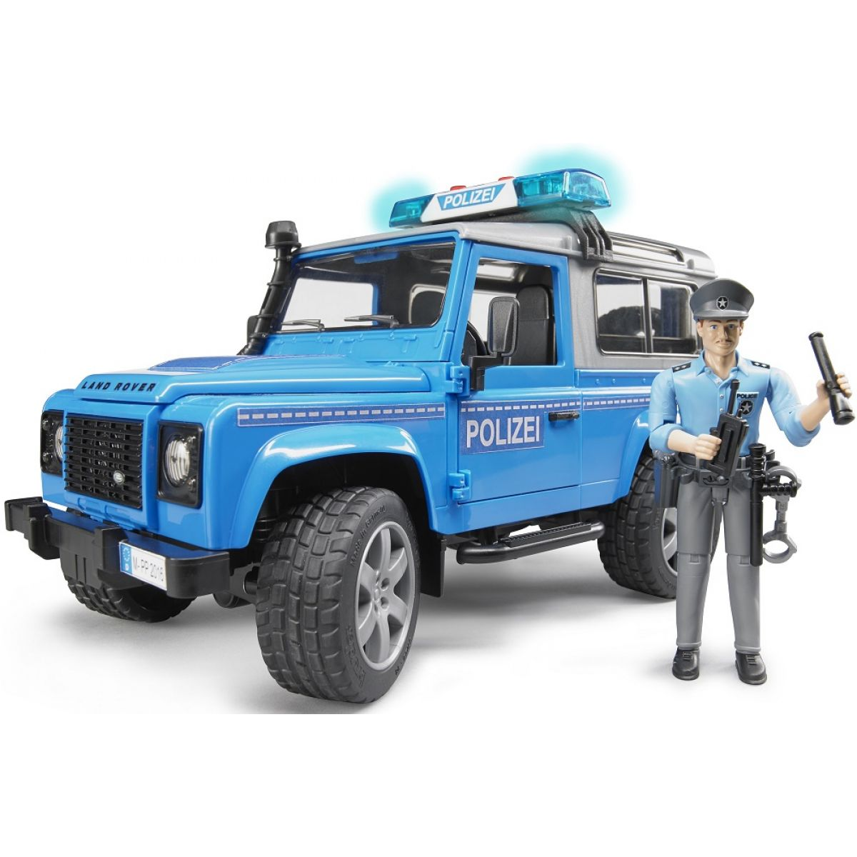 Bruder 02597 Policejný Land Rover Defender s policajtom