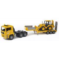 Bruder 02776 Nákladné auto MAN náves + traktor JCB 3