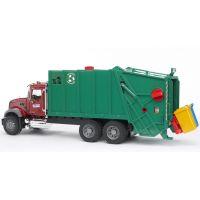 Bruder 02812 Nákladné auto MACK Granit smetiar zelený
