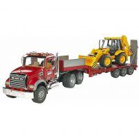 Bruder 2813 Nákladní auto MACK Granit - návěs + traktor JCB
