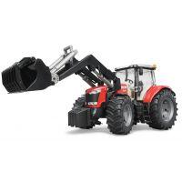 BRUDER 3047 Traktor Massey Ferguson 7600 s čelným nakladačom