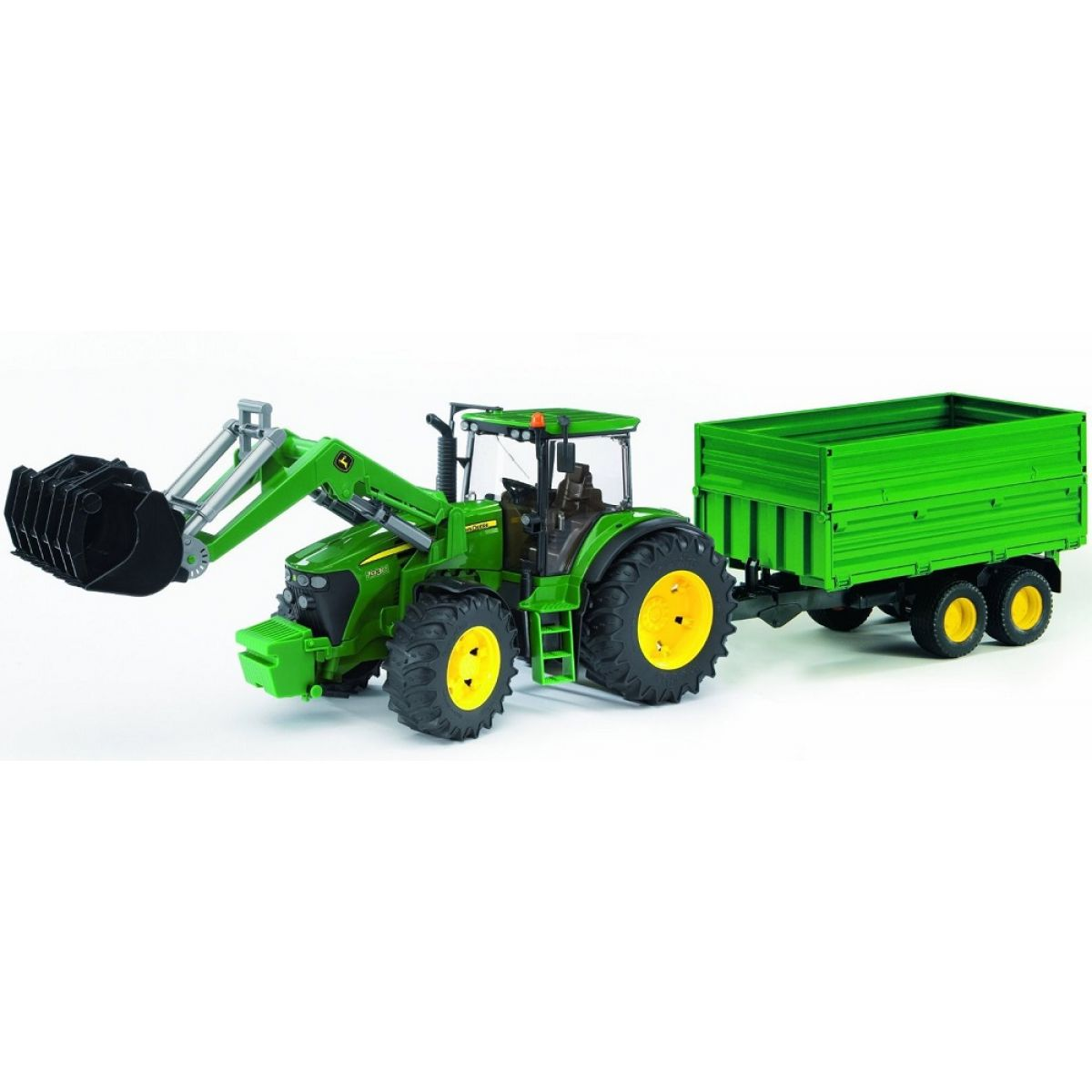 Bruder 03055 Traktor John Deere 7930 + vůz - Poškozený obal