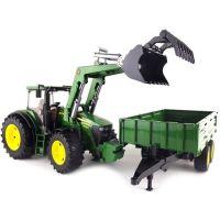 Bruder 03055 Traktor John Deere 7930 + vůz - Poškozený obal 3