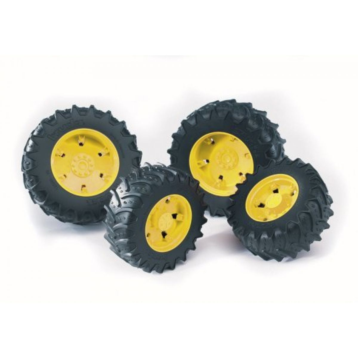 BRUDER 3314 Dvojitá kola pro traktory řady 3000 žlutá