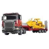 Bruder 3555 Scania ťahač s buldozérom CAT