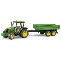 Bruder 2108 Traktor John Deere 5115M a valníčkem