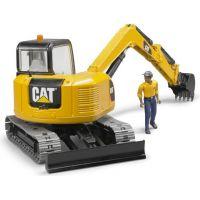Bruder 2466 Minibager Cat s figúrkou 4