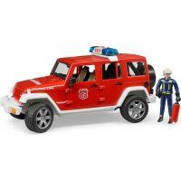 BRUDER 2528 Jeep Wrangler Požiarnici s figúrkou