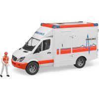 Bruder 2536 Mercedes Benz Sprinter sanitka s figurkou - Poškodený obal