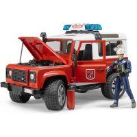 Bruder 2596 Land Rover Defender Hasičské auto s figúrkou hasičov 2