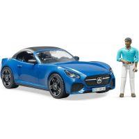 Bruder 3481 Roadster s řidičem modrý