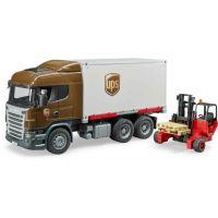 Bruder 3581 Scania R UPS logistik s vysokozdvihem