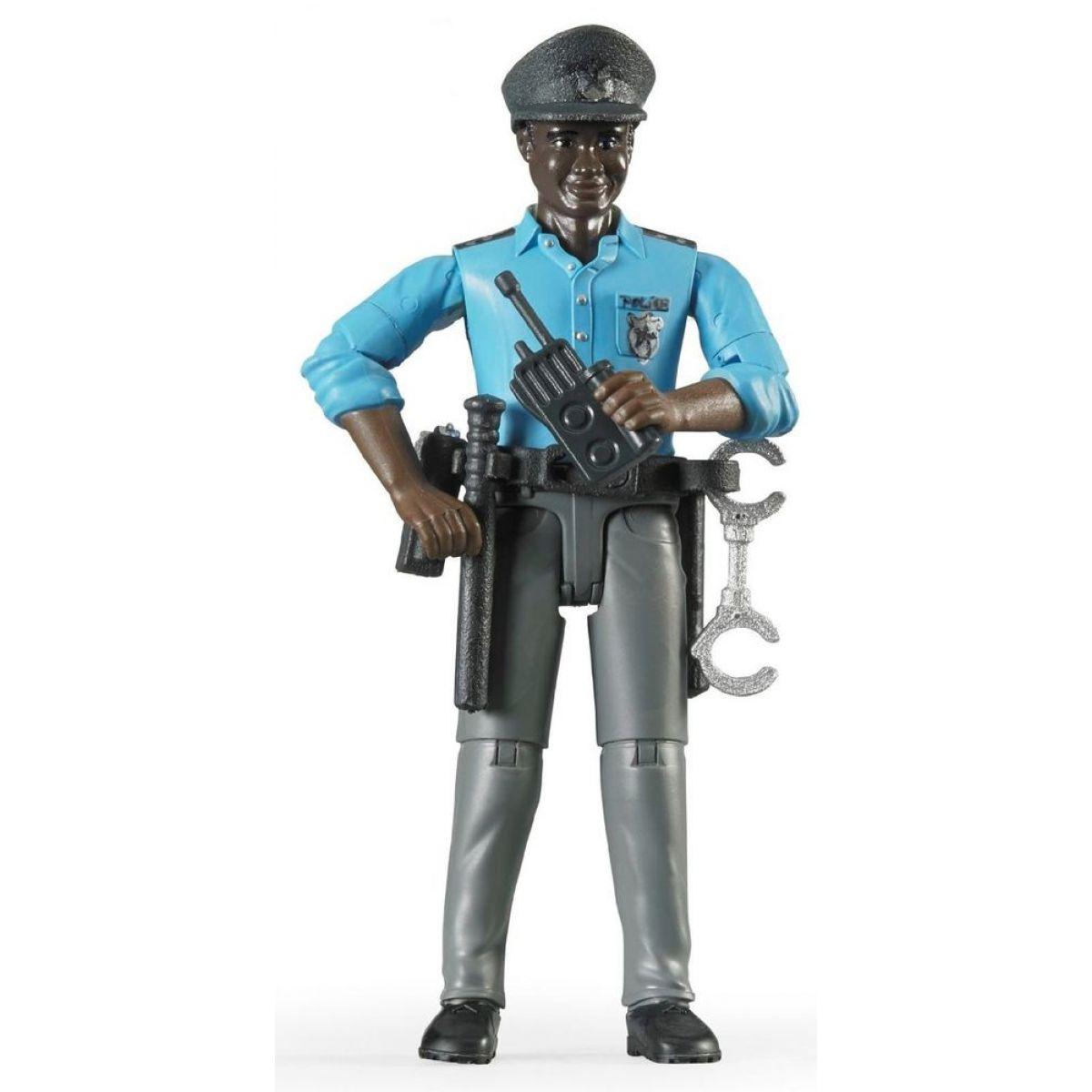 Bruder 60051 Policista tmavé pleti s příslušenstvím