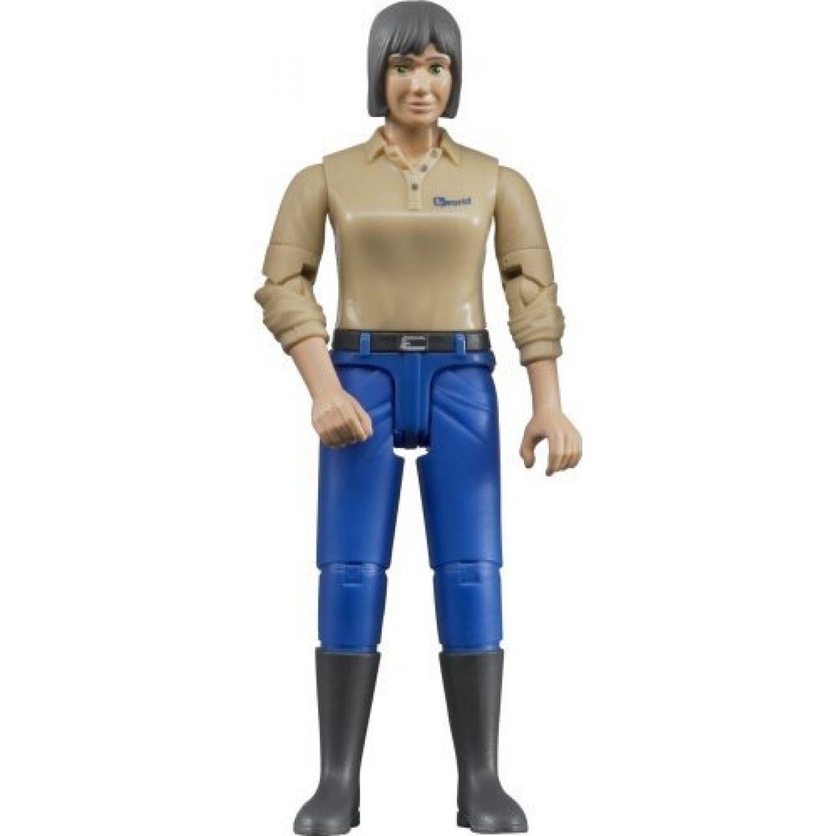 Bruder 60406 Bworld Žena modré kalhoty