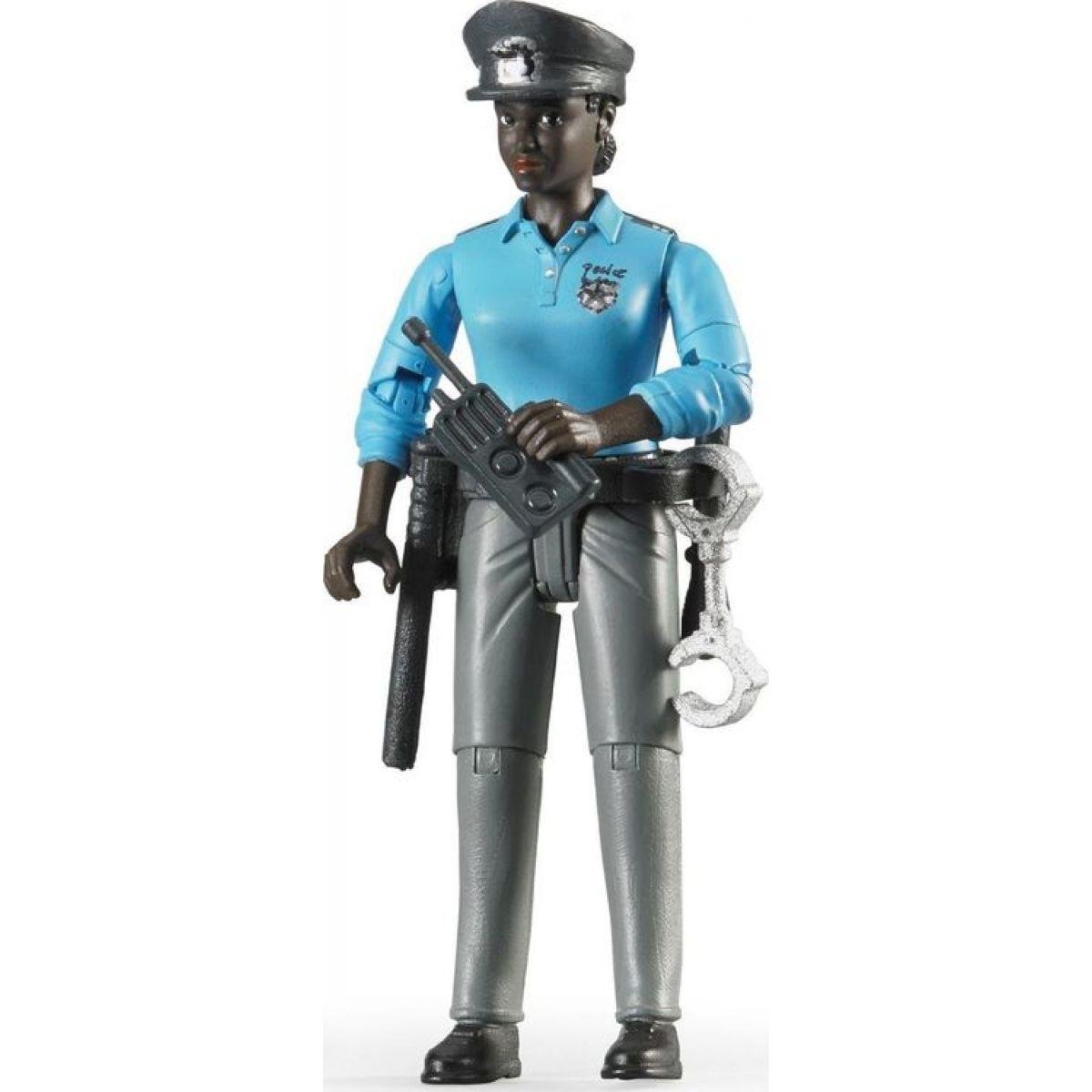 Bruder 60431 Policistka tmavé pleti s příslušenstvím