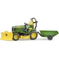 Bruder 62104 Záhradný traktorček J.Deere s príslušenstvom a figúrkou 2